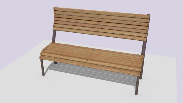 free obj model bench