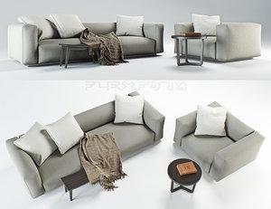 3d flexform lario sofa armchair