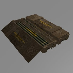 m1a1 bangalore torpedo crate 3d model