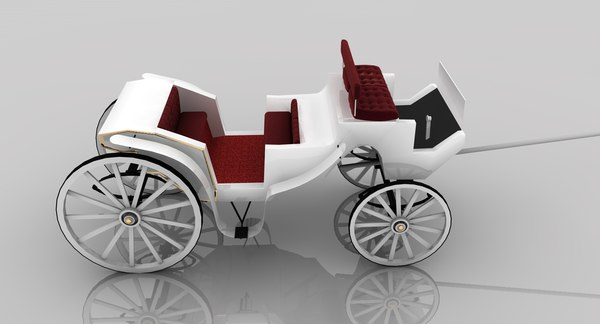 carriage wagon 3d model