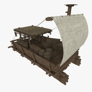 3d obj raft blender