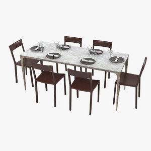 ochre whippet dining 3d x