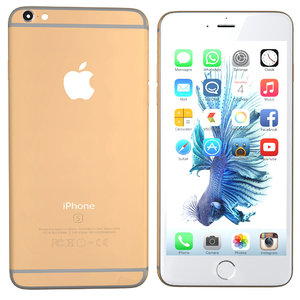 3d model modelled iphone 6s gold