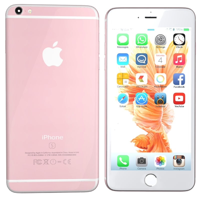 3ds modelled iphone 6s rosegold