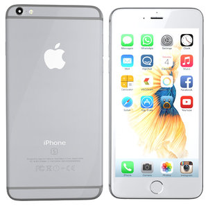 3d model of modelled iphone 6s silver