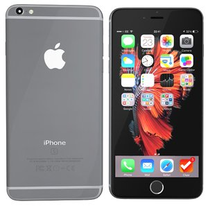 modelled iphone 6s spacegrey 3ds