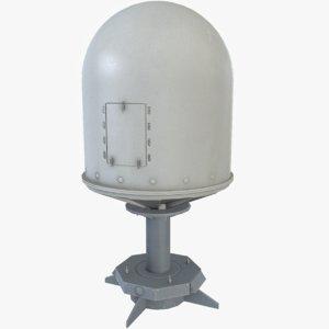 radome asset polys 3d model