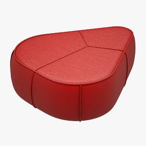 3d bermuda pouf boconcept model