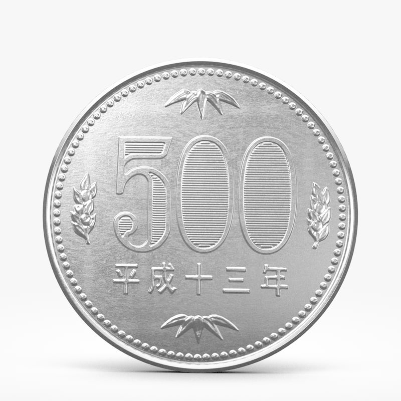 3d thousands yen coin