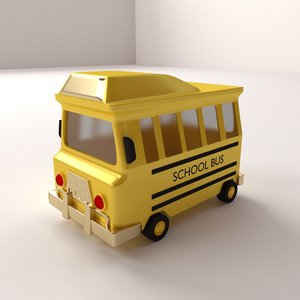 3d cartoon school bus model
