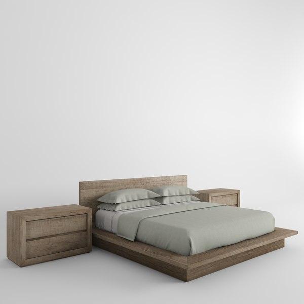 X Reclaimed Oak Platform Bed