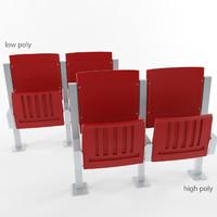stadium seat 3d model