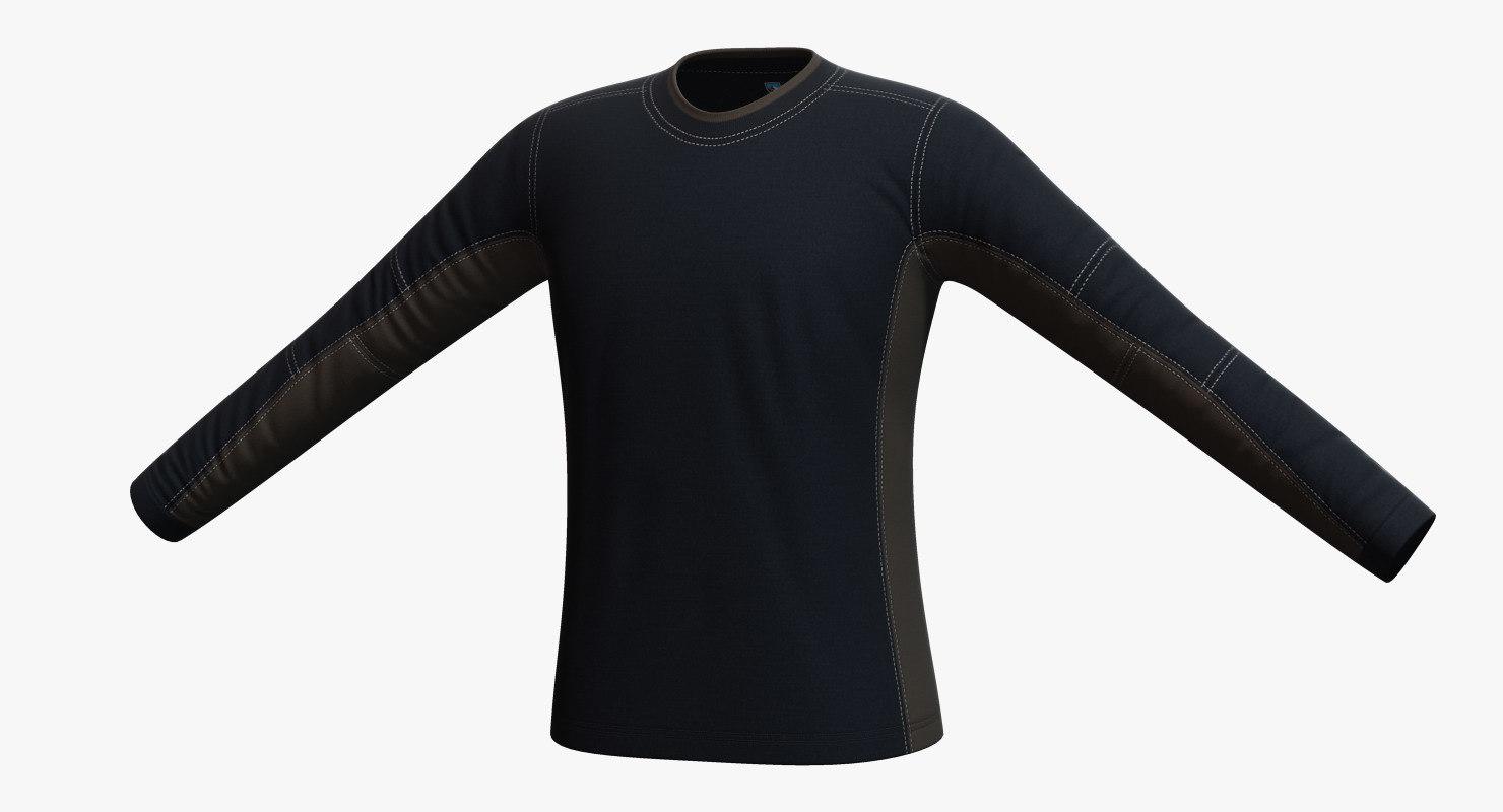 kuhl kontendr ls pullover 3d model