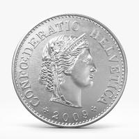 3d rappen coin model