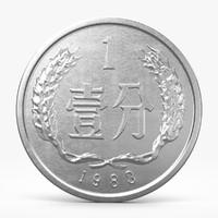 3d model fen coin
