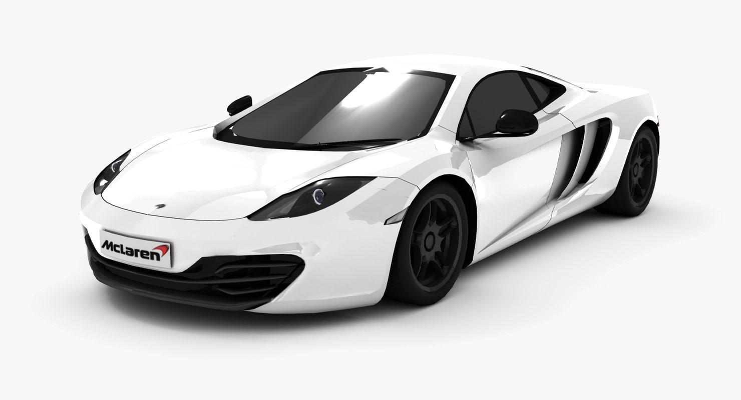 mclaren mp4-12c supercar 3d model