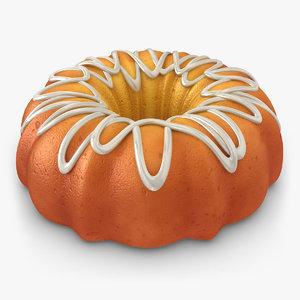 3d realistic pumpkin buttermilk cake
