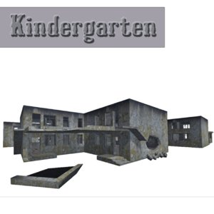 3ds max kindergarten building