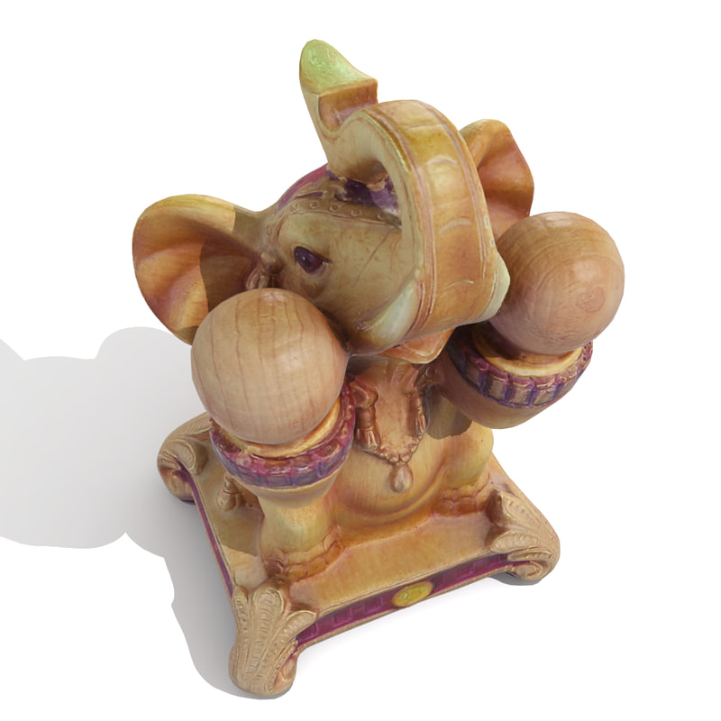 elephant statuette ready 3d 3ds