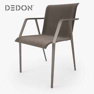 dedon wa armchair chair max
