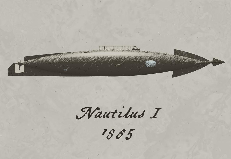 nautilus 1865 submarine 3ds