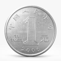 3d model yuan coin