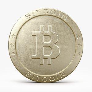 bitcoin 2 coins 3d max