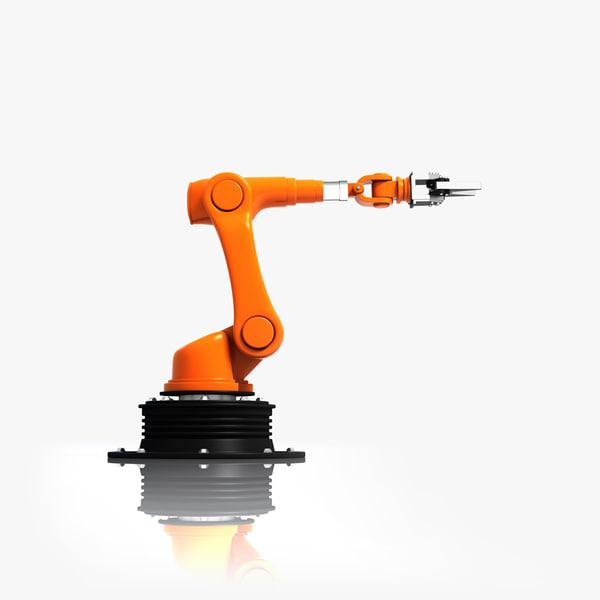 3d max industrial robotic arm