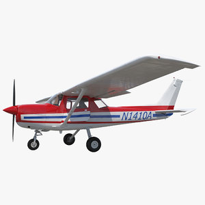 3d cessna 150 rigged 2