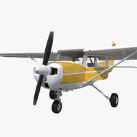 Cessna 150 Rigged 3 3D Model