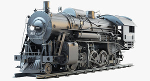3d model icrr 1518 steam locomotive