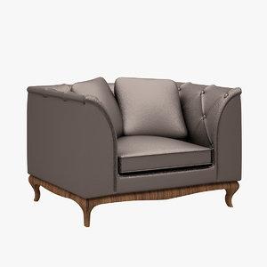 3d model dolce vita sofa