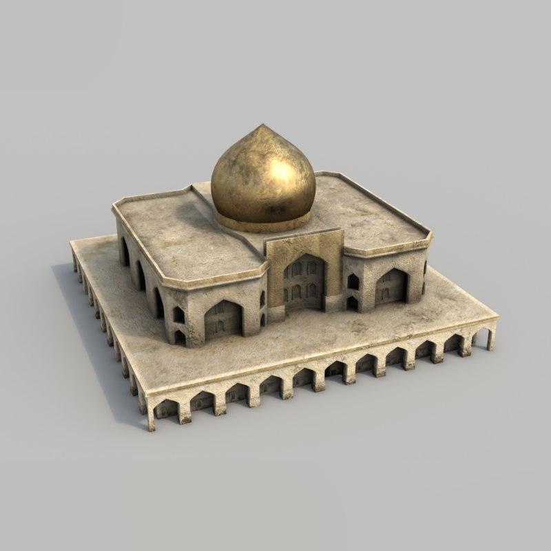 3d model of buildings arabian city -