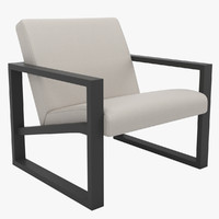 contemporary lounge chair 3d max