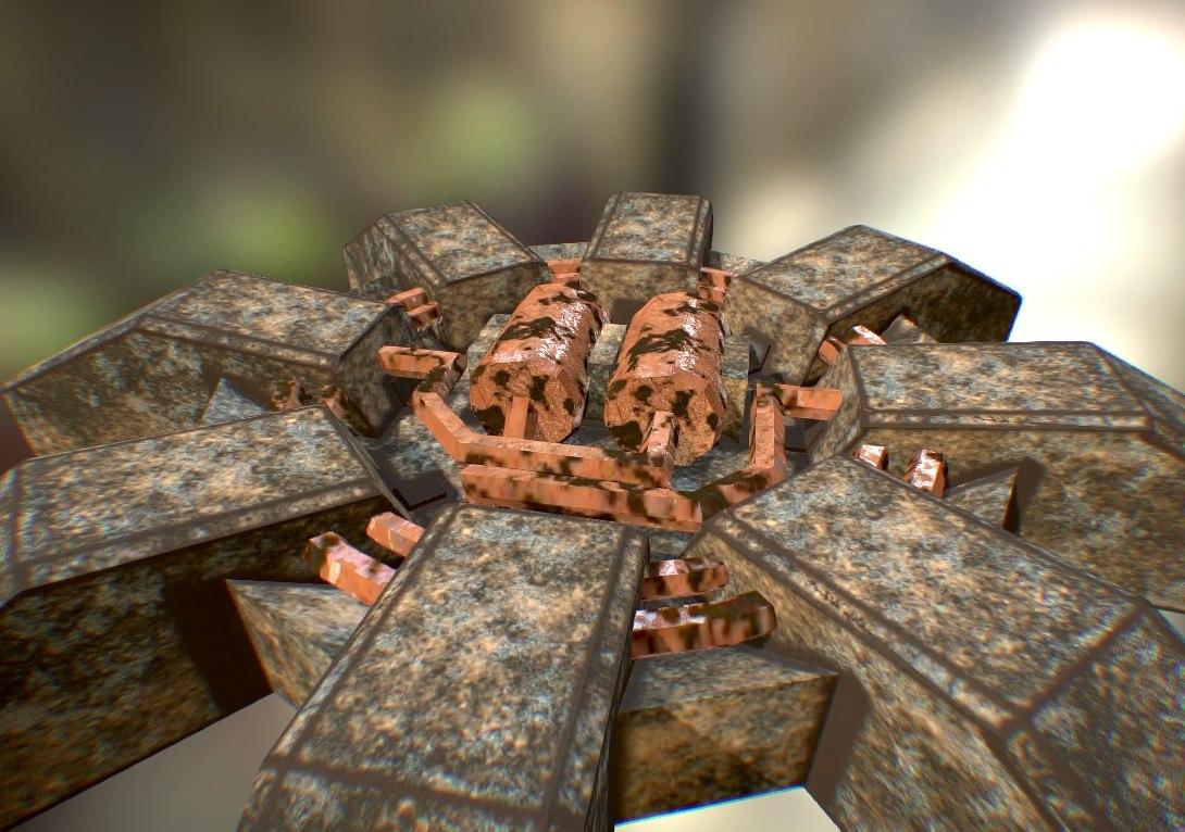 landmine rusty 3d 3ds