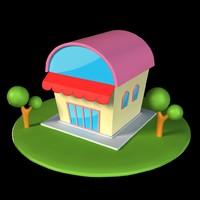 3d model cartoon home