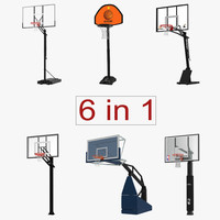 3d basketball hoops 2 modeled