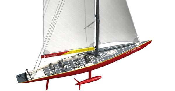 voilier 3d model