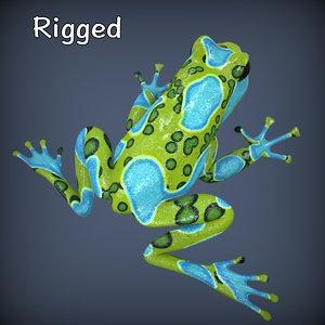 realistic poison dart frog ma
