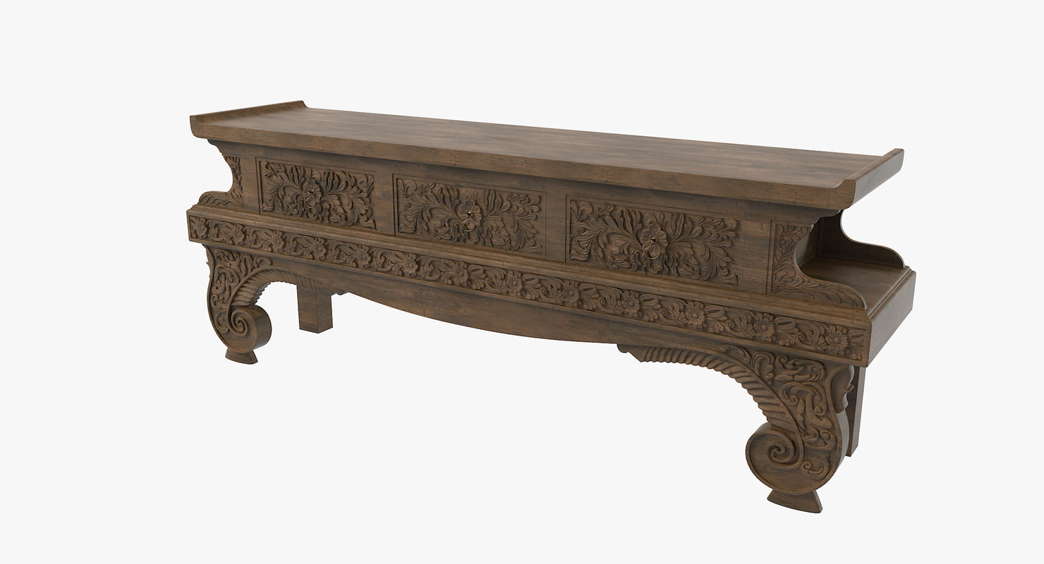 3d model maitland console table