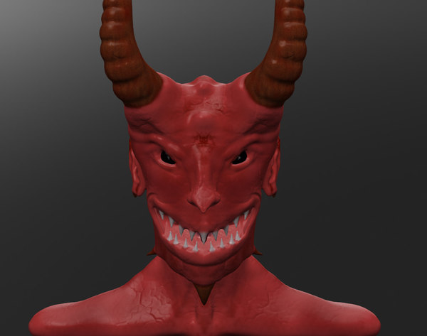 devil head smile 3d model