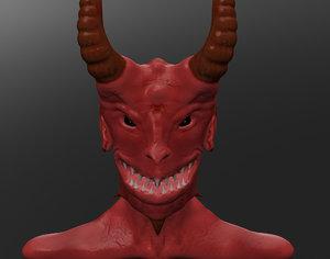 devil head smile 3d model
