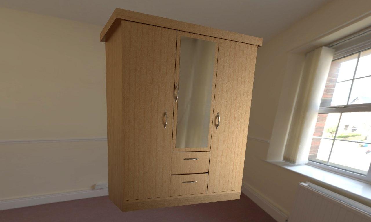 3d model of wardrobe