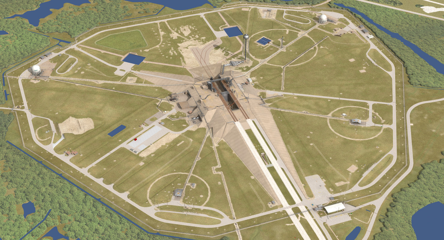 launch complex 39a shuttle 3d lwo