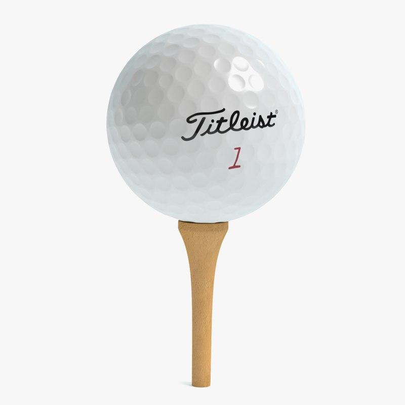 golf ball 3d model