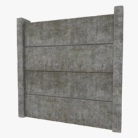 3d model concrete fence