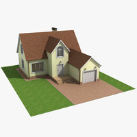 classic house roof 3d model