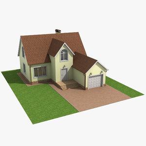 classic house roof 3d model