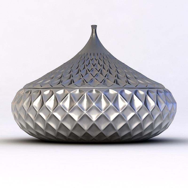3ds vase bowl plisse