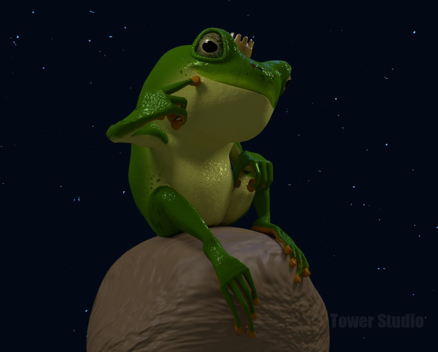 blender frog animations